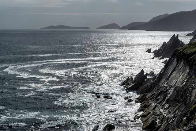 Sea and cliff view, Slea Head, Co. Kerry