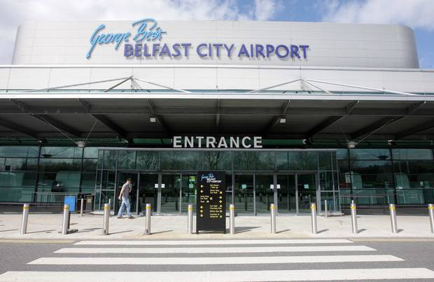 George Best Airport Entrance